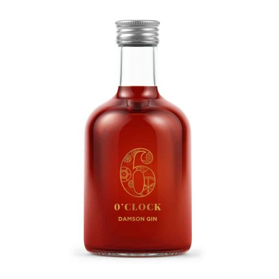 6 O Clock Damson Gin Miniature 5cl 50ml - The Gin Stall (002)