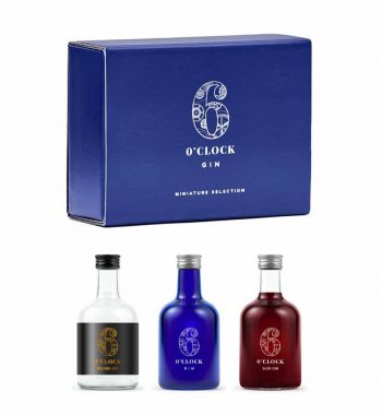Six O'Clock Gin Miniature Trio Gift Set - The Gin Stall (002)