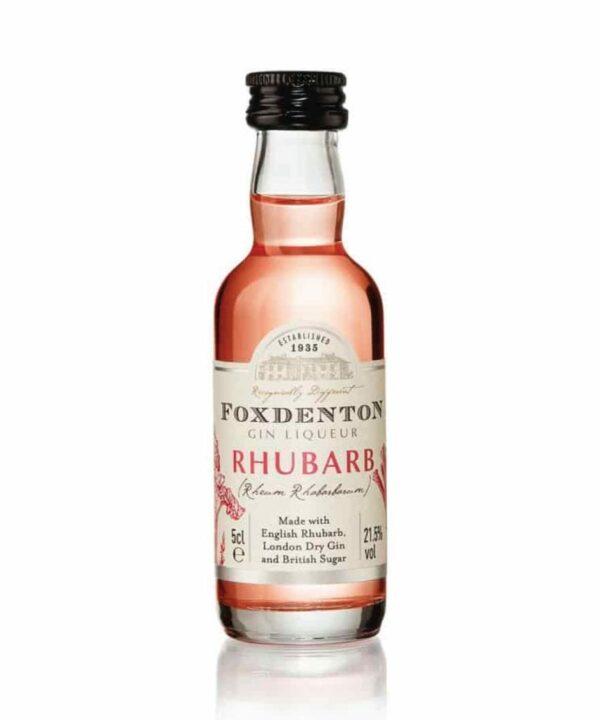 Foxdenton Rhubarb Gin Liqueur Miniature 5cl -The Gin Stall