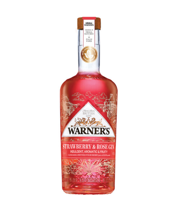 Warners Strawberry & Rose Gin - The Gin Stall
